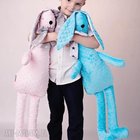 przytulanka dziecięca królik duży, hand made, minky, na prezent