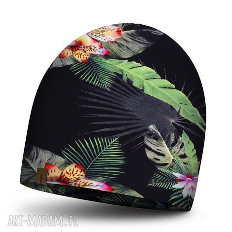 czapka dziecięca na jesień podwójna, kolorowa czapka dla chłopca