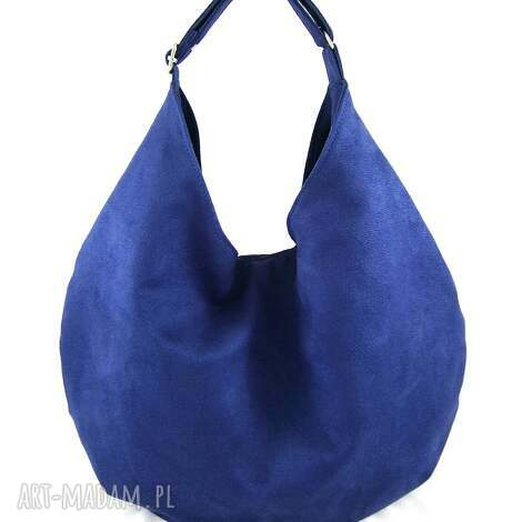 aneta pruchnik hobo blue - torebka, hobo, pojemna, wygodna