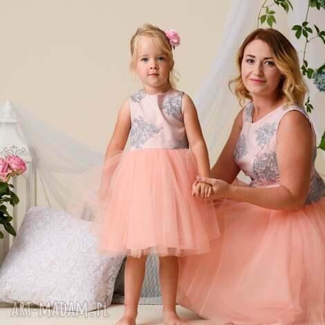 komplet sukienek alice dla mamy i córki, tiulowe sukienki, córki