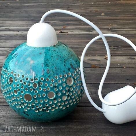 ball lampa wisząca turkusowa, lampa, lampka, sufitowa, wisząca, kula, lampion