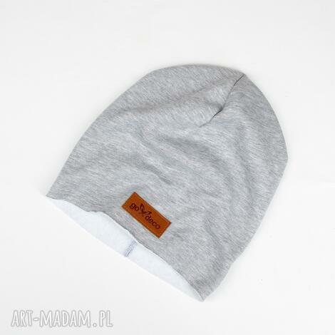 klasyczna szara czapka - czapka, unisex, chłopak, dziewczyna, prezent, dzianina