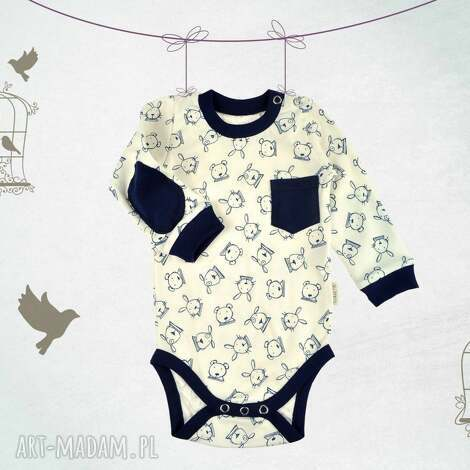 bawełniane body niemowlęce zając i miś, body, niemowlę dla dziecka