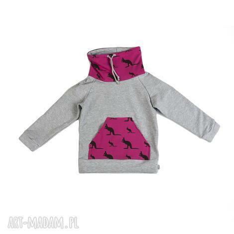 bluza różowe kangury r 122-158, bluza, dla dziecka