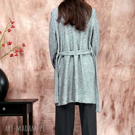 długi sweter płaszczyk z kieszeniami, sweter, rustic, wełna, kieszenie,