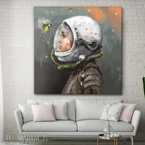 obraz na płótnie uniwersum 100x100 cm - kosmos, obraz, płótno