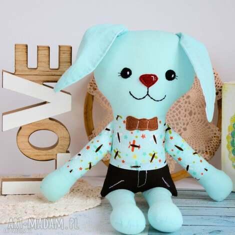 maskotki radosny zajączek aleks - 37 cm, zając, królik, maskotka, przytulanka