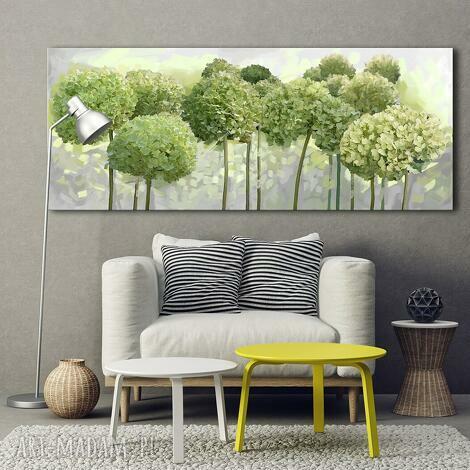 obraz drukowany na płótnie kwiaty hortensji ogrodowej -format 150x60cm 0356