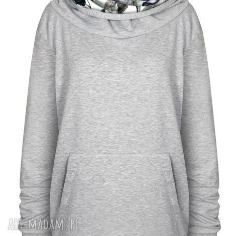 ciepła bluza z dużym kapturem i półgolfem, orginalna damska kangurka s -xl