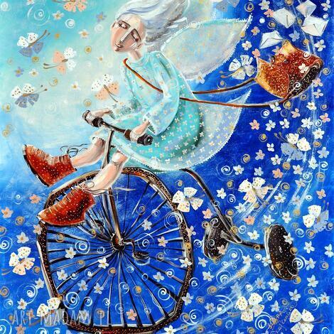 anioł na rowerze, rower, anioł, wiadomości, prezent