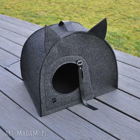 beltrani domek, budka, legowisko dla kota - grafitowy, kot