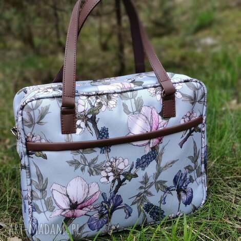 torebki niezwykle torba miejska - irysy vintage, elegancka, nowoczesna, pakowna
