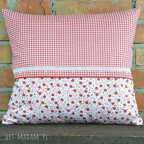 poduszki poduszka dekoracyjna kratka z motywem 40x45cm, bawełna, prezent, oryginalna