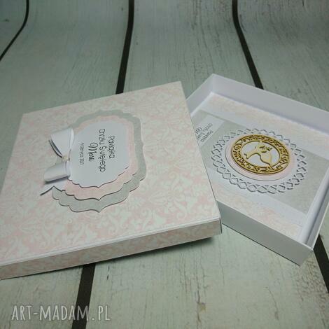 zestaw elegancja w różu - chrzest, komunia, wyjątkowy, elegancki, urodziny