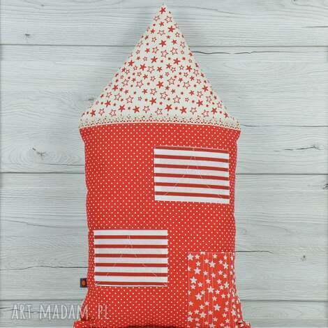 poduszka dekoracyjna 30x55cm - domek kamieniczka - bawełna, przytulanka, oryginalna
