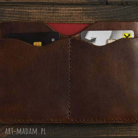 etui na dokumenty brązowy, etui, portfel, skóra, skórzany, naturalny, dokumenty