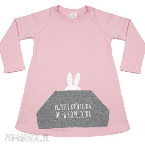 tunika różowa dla dziewczynki a kuku - tunik, sukienka, diverso