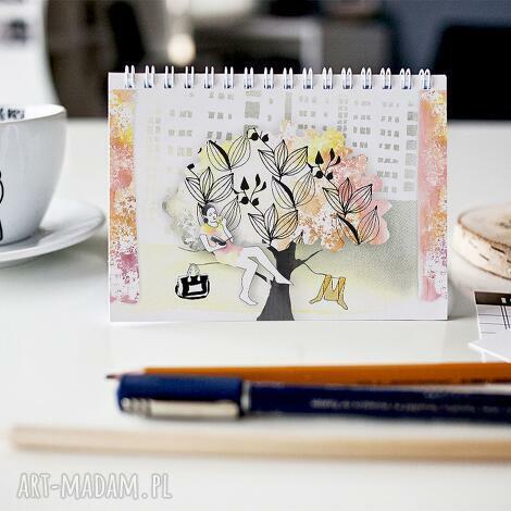 miły dzień w mieście - notes a5, notesy, zeszyt, skorozeszyt, prezent