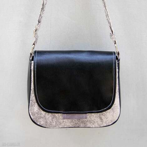 bambi - mała torebka czarny i biały, mała, wygodna, praktyczna, ekoskóra