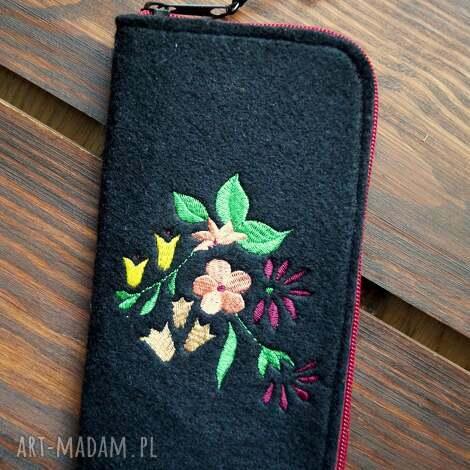 filcowe etui na telefon - rajskie kwiaty, smartfon, pokrowiec, futerał, kwiatowy