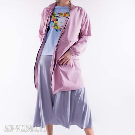 płaszcz różowy- zwiewny, sukienka, dres, t shirt, bluzka, bluza, kurtka