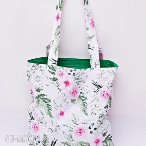 ddf5f8828c46 torba na zakupy shopperka ekologiczna zakupowa ramię bawełna dzikie kwiaty