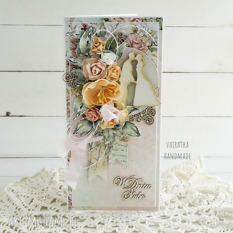 kartka ślubna w pudełku, 637 ślub, wesele, prezent ślubny