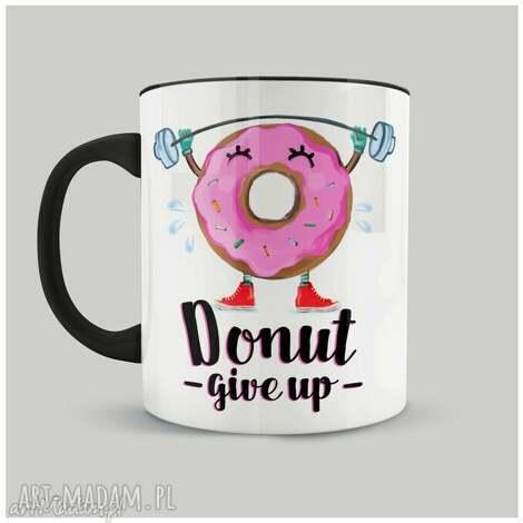 kubek donut give up, personalizacja, kubki, donut, prezent, idealny