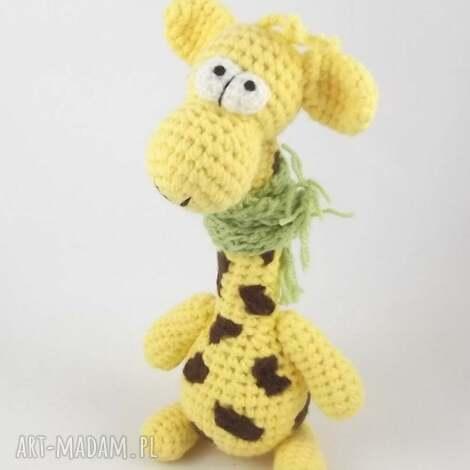 raffa - szydełkowa żyrafa, żyrafa żyrafka, maskotka, wesoła