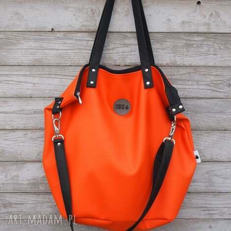 torba worek waterproof orange, worek, pomarańcz, prezent, zakupy, ekoskóra