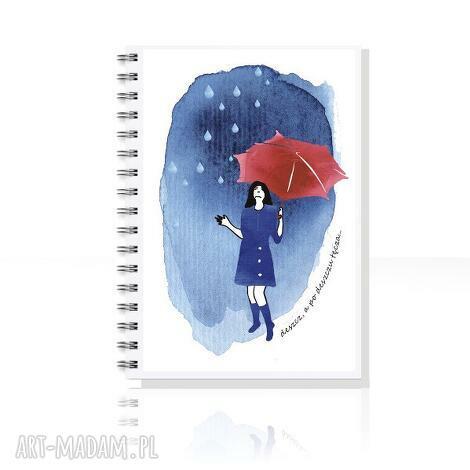 parallel world po deszczu tęcza notes a5, notes, zeszyt, skoroszyt, ilustracja