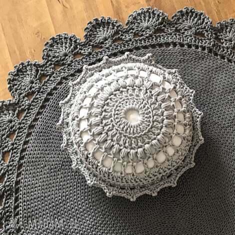 knitting factory poducha siedzisko puf star, pufa, poduszka, siedzisko, pokój