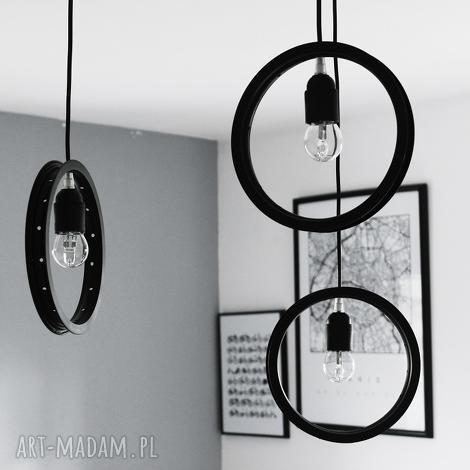 potrójna lampa spider, okrągła, potrójna, pająk, żyrandol, loft