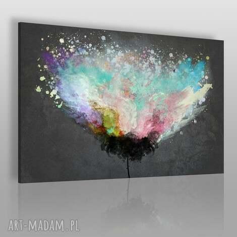 obraz na płótnie - artystyczne drzewo 120x80 cm 54001, abstrakcja, nowoczesny