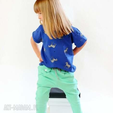 cudi kids spodnie w stylu jogger mięta, spodnie, zakładki, jogger, bawełna