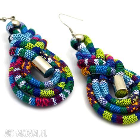 kolczyki boho azteq plait, kolczyki, boho, etniczne, stal biżuteria, unikalne