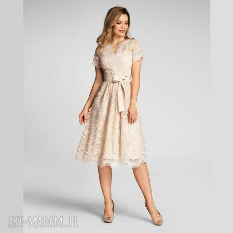 sukienka daria ii midi josefina vanillia, midi, rozkloszowana