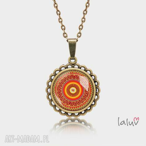 medalion okrągły mały aztecka mandala - mandala, symbol, harmonia, zen