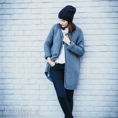 swetry luźny rozpinany sweter, rozpinany, kardigan, wełna