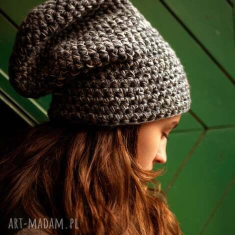 czapki czapka hand made no 041 / beanie szydło, zimowa, wełniana