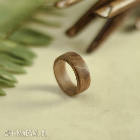 męska obrączka z drewna tekowego, drewniana obrączka, dla niego