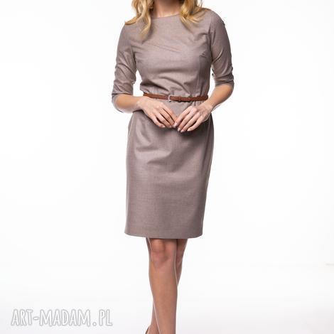 sukienka mirna, wełniana, ołówkowa, klasyczna, biurowa, prosta, elegancka