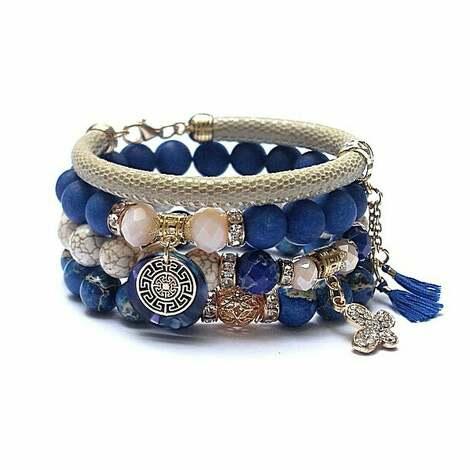 ki ka pracownia blue and ivory /24-11-20/ set, kamienie, minerały, ka, boho