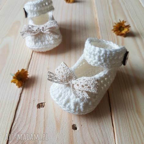 buciki balerinki, buciki, dla dziecka, niemowlę, bawełna