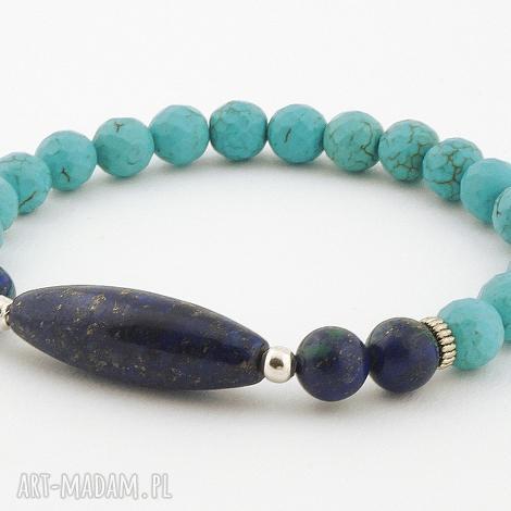 męska lapis lazuli howlit, chryzokola, lapis, lazuli