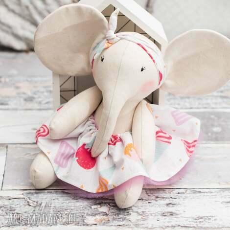 artshoplalashop słonik przytulanka prezent personalizacja, słonik