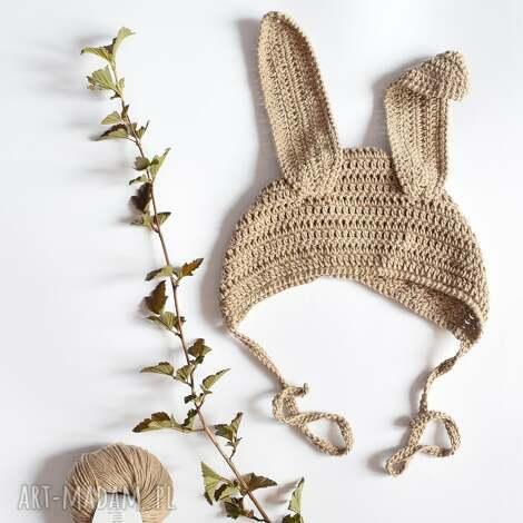 czapka królik bawełniana dziecięca - dziecięca, bawełniana, wiosenna