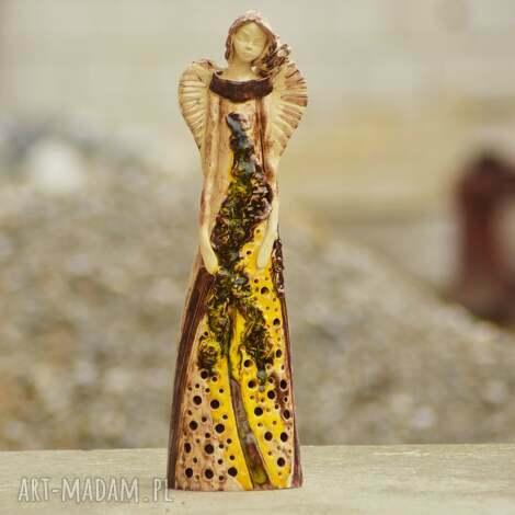 oryginalny prezent, kacik pomyslow anioł ceramiczny, ręcznie