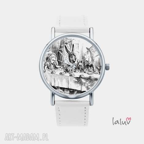 zegarki zegarek z grafiką herbatka kapelusznikiem, alicja, krainie, czarów, książka