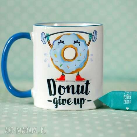kubek donut give up ii, kubek, personalizacja, donut, prezent dom
